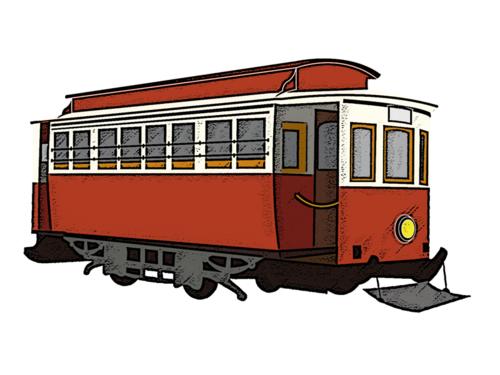 路面電車,交通ルール,信号,安全地帯